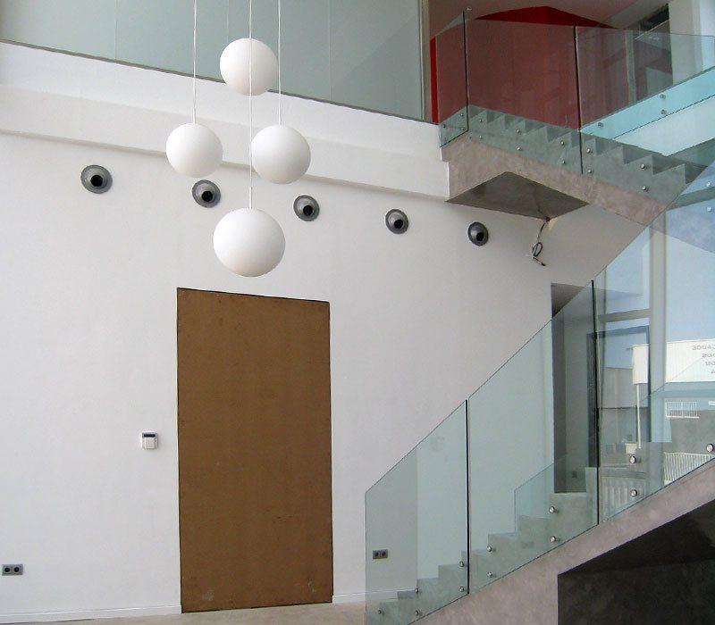 Mamparas de cristal en interiorismo