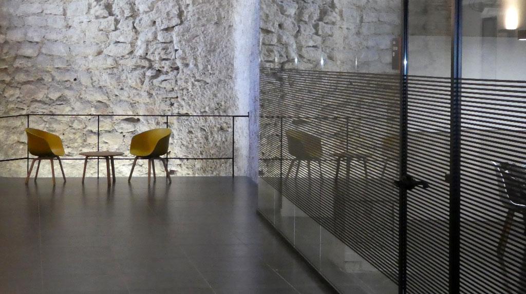 Mamparas en el Centro de idiomas Españolé