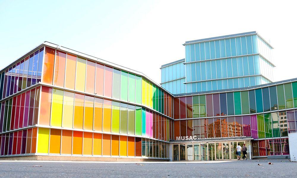 Musac museo cristal laminado de color